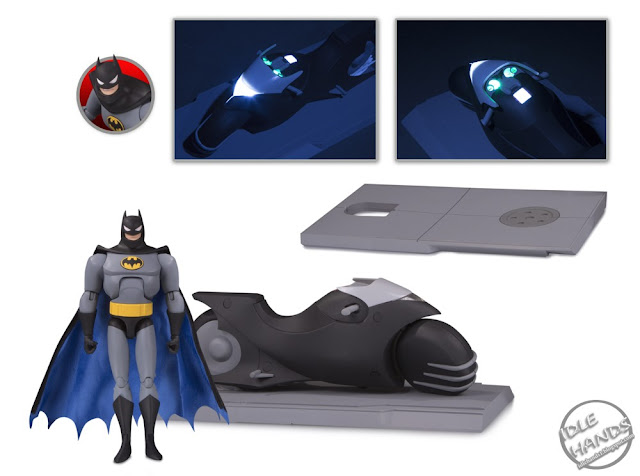SDCC 2018 DC Collectibles Batman The Animated Series Batcycle and Action Figure Set 01