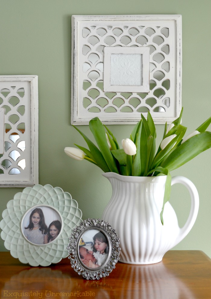 Decorating With White Pitchers