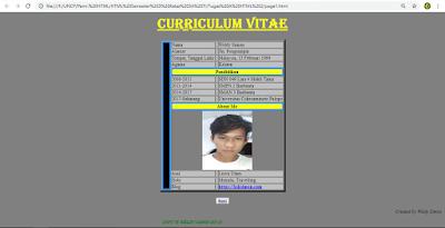 gambar Google membuat biodata keren HTML