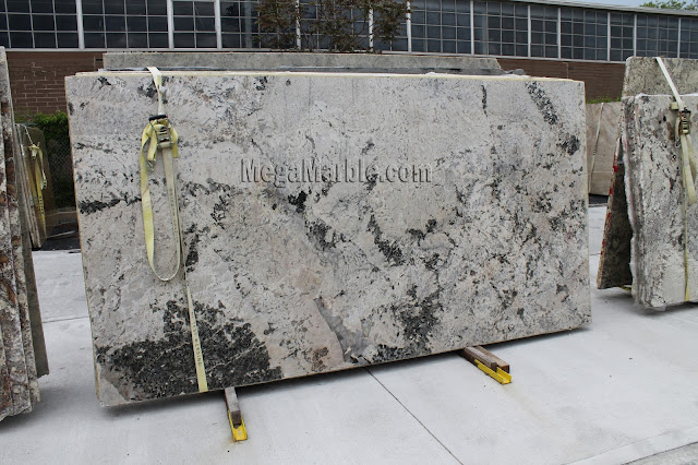 Aspen White Granite slabs for countertops