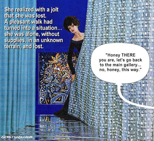 simple mind, art gallery, thrilling grief, gerry lagendyk, blue