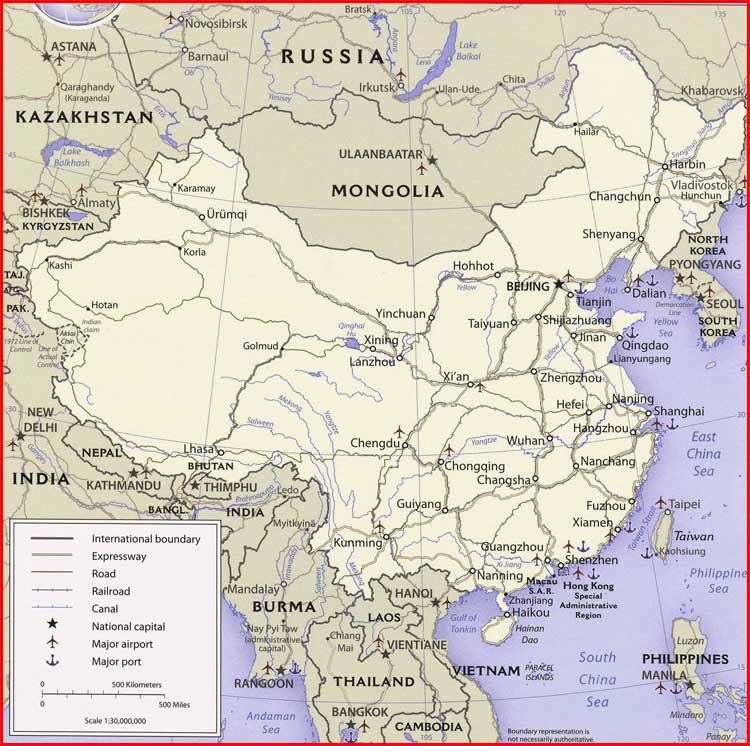 image:China Political Map