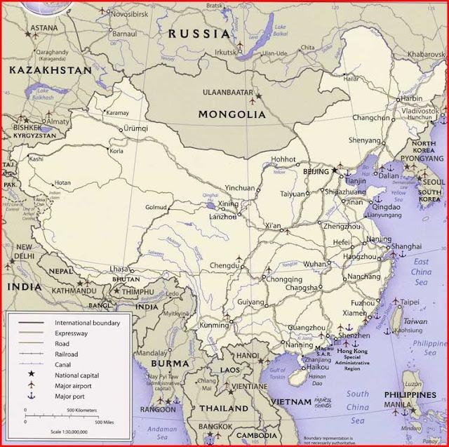 Gambar Peta politik China