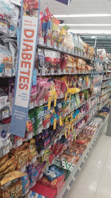 candy section diabetes advert fail