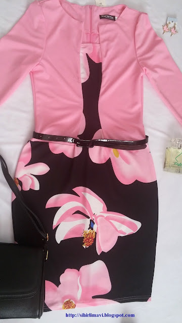 blog, blogger, sihirlimavi, dress, fashionmia, floral dress, floral, pink, kombin, kombin ayrıntıları