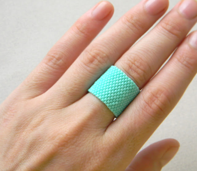 купить авторское кольцо ручной работы бирюзовое женское кольцо фото