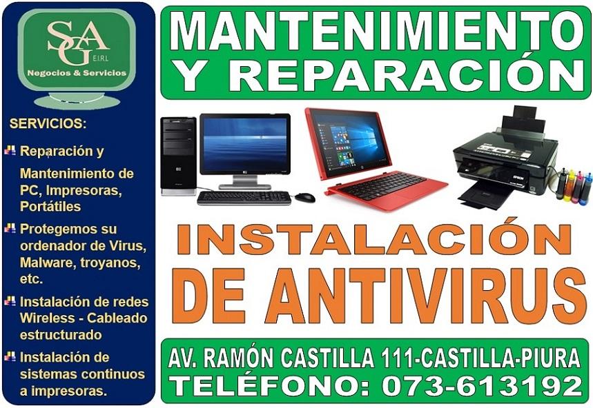 Reparacion Tecnico Computadoras Impresoras Laptops