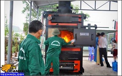 Khắc phục đạt tiêu chuẩn công trình xử lý nước thải - Đốt rác thải sinh hoạt bằng khí tự nhiên