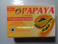 hilangkan jerawat dengan sabun papaya whitening soap