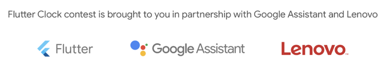 Flutter clock content partnership with Google Assistant and Lenovo