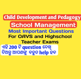 Child development and pedagogy questions for oavs and highschool teacher exams