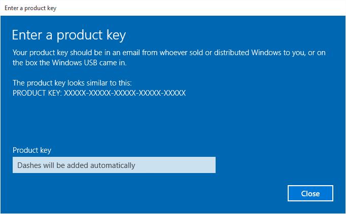 windows 10 con product key