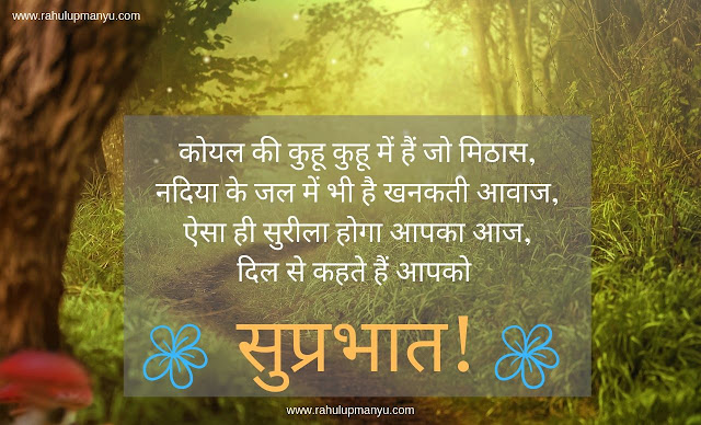 Good Morning Shayri in Hindi 2019