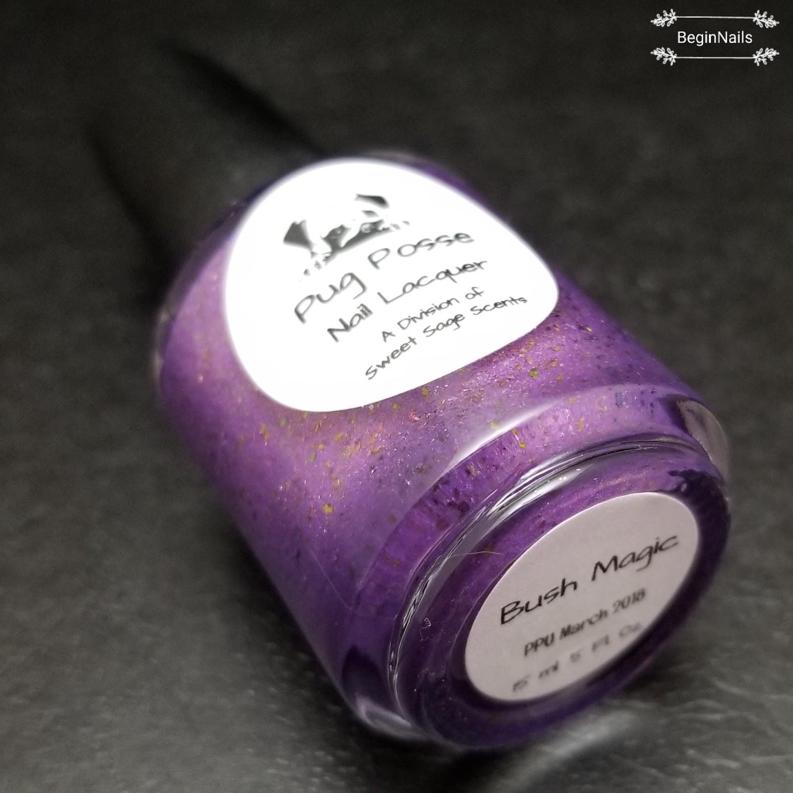 Let\'s Begin Nails: Polish Pick Up: Pug Posse Nail Lacquer - Bush Magic