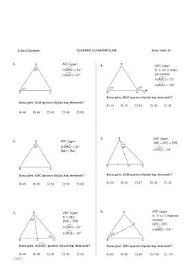 Ekstrem 9. Sınıf Geometri Testleri PDF