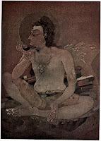 Shiva trinkt das Weltengift - Quirlen des Milchozeans