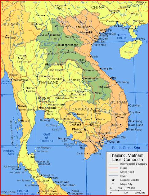 Gambar Peta Vietnam