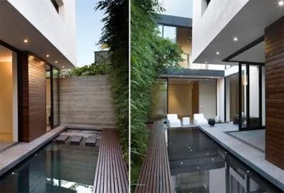 gambar kolam mungil di rumah minimalis (25 gambar) | model