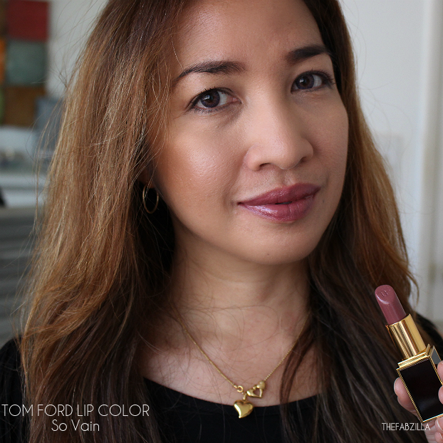 tom ford lip color fall 2015 collection, review, swatch, tom ford lip color so vain