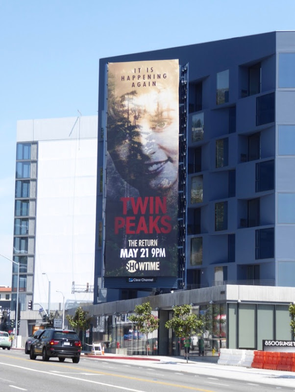 Twin Peaks Return billboard
