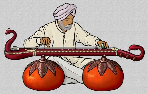 インドの楽器 ビチトラ・ヴィーナ