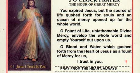 THE PRAYERS: 3 O'CLOCK PRAYER