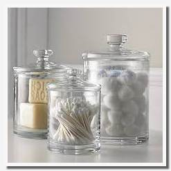 glass storage containers for bathroom
