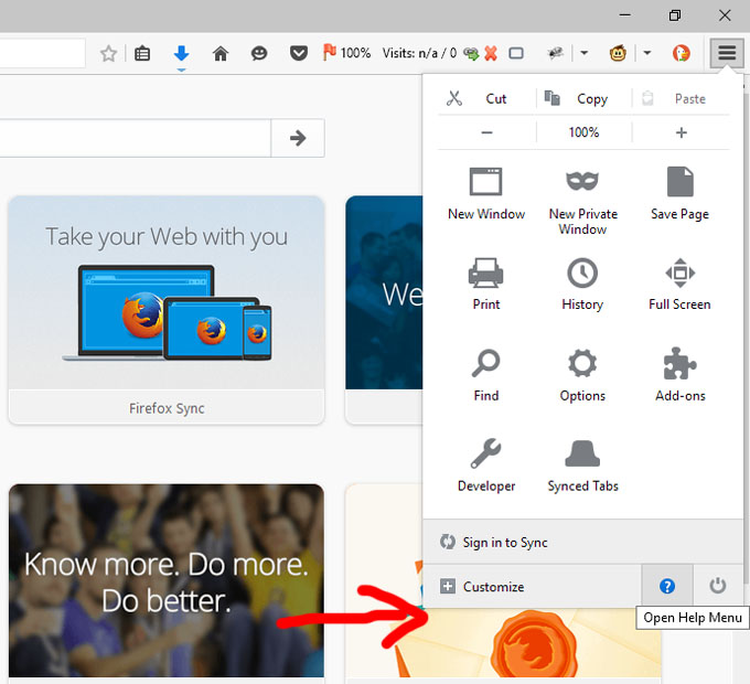 Langkah 1 - Cara Update Firefox Versi Terkini