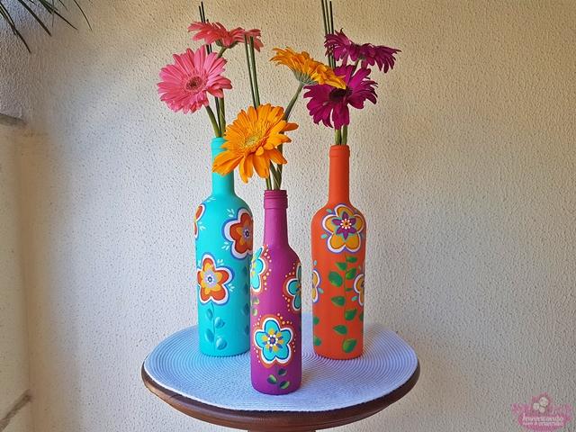 Como usar garrafas na decoração