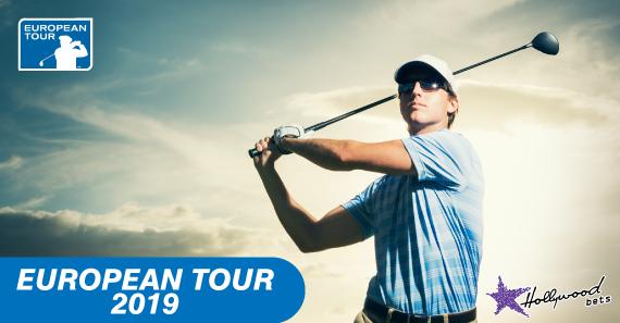 Golfer admires shot