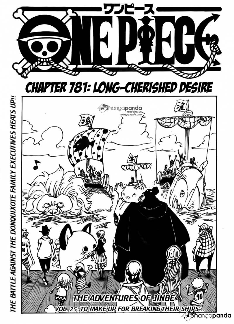 One Piece Ch 781: Long-cherished Desire
