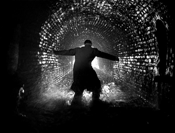 Orson Welles in the sewer The Third Man 1949 Joseph Cotten Orson Welles