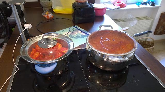 Tomatenketchup und Tomatensauce entstehen (c) by Joachim Wenk