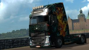 Fire of Girl paint job for Volvo 2013