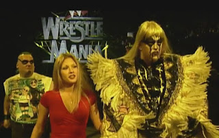 WWE / WWF Wrestlemania 15: Goldust w/ Blue Meanie and Ryan Shamrock