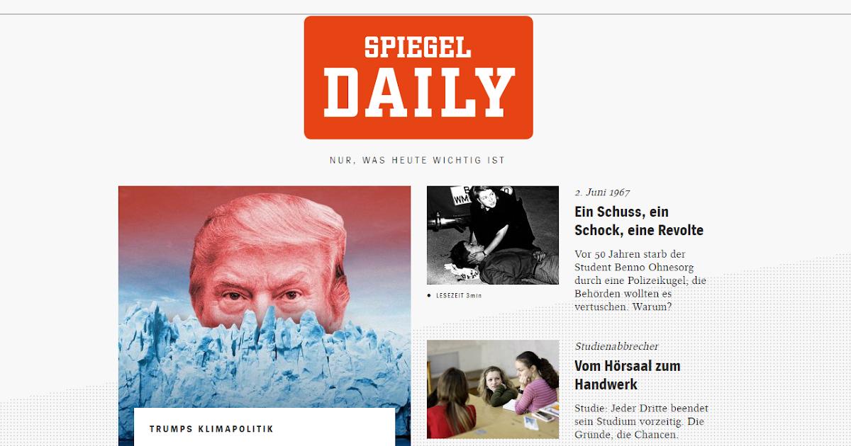 Se ales der spiegel lanza un diario digital vespertino y for Spiegel daily