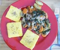 rezept vegan polentaschnitte mit kohlrabigemüse hauptspeise