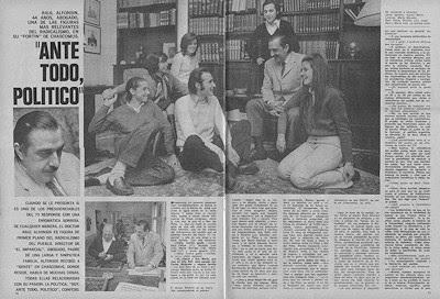 """RAUL ALFONSIN en 1971 """"SOY, ANTE TODO, POLITICO"""""""