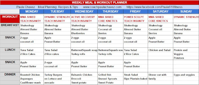 core de force, meal plan, core de force before and after, insanity