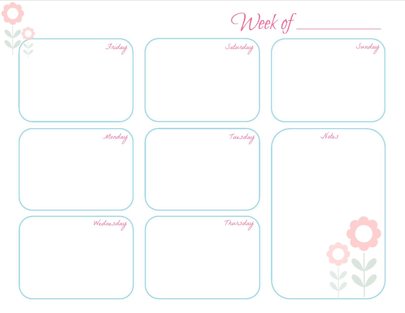 Love 2 Decorate: Weekly Planner - Free Printable