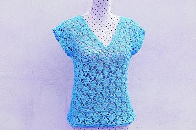 6 - Crochet IMAGENES Blusa de corazones muy fácil y sencilla. MAJOVEL CROCHET