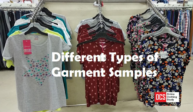 Different types of garment samples