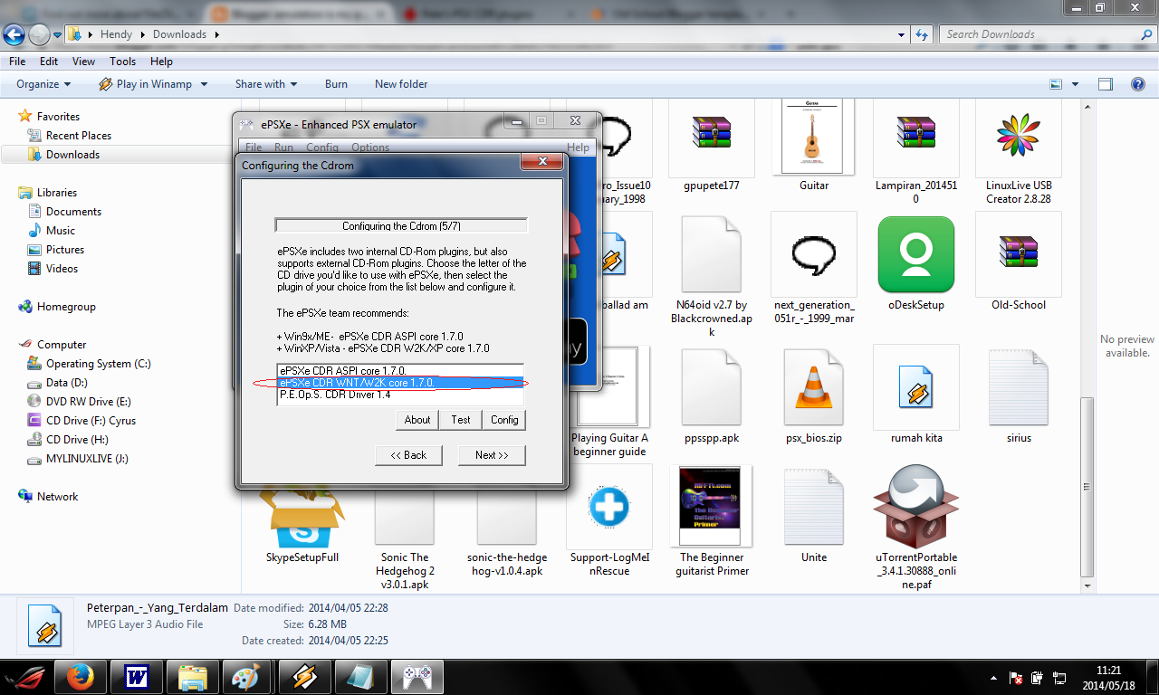 step by step Installation of Epsxe emulator (English) | Old