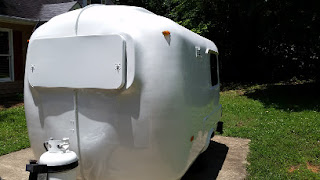 U-haul Fiberglass Camper with fresh paint