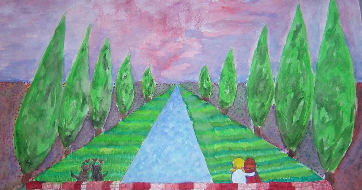 Dietro il dipinto  Esercizi di prospettiva centrale