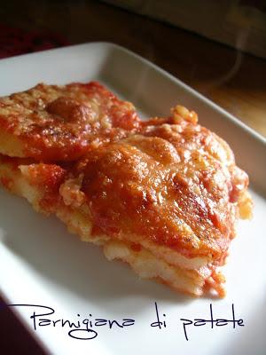 la ricetta della La parmigiana di patate  secondo piatto economico
