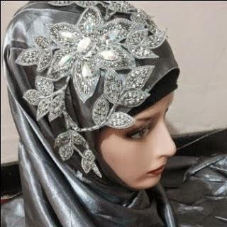 Koleksi Aksesoris Jilbab Pesta Pengantin