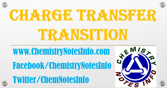 Definition of charge transfer Transition by- www.ChemistryNotesInfo.com All electronic transition that occur between orbitals that are centered on different atoms is known as charge transfer Transition. It's absorption band is very strong Types of charge transfer bands Two types of charge transfer bands seen in metal complexes. i.e. 1: Legand to Metal charge transfer bands. 2: Metal to Legand charge transfer bands... read more at http://chemistrynotesinfo.blogspot.in/2014/12/charge-transfer-transition.html