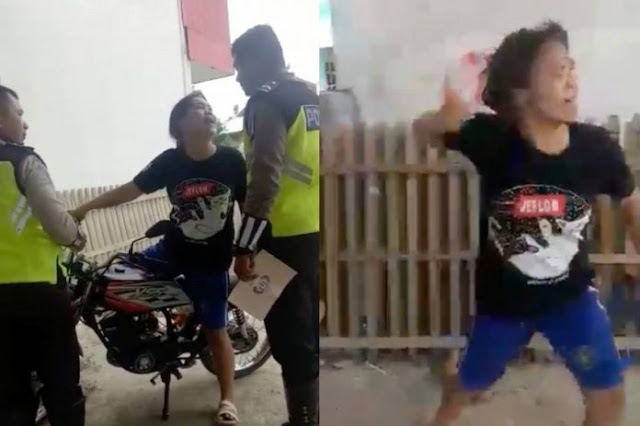 Ngamuk Hingga Pukul Polisi Gara-gara Tak Mau Ditilang, Aksi Emak-emak Ini Viral