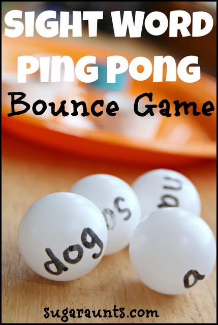sight word ping pong bounce game the ot toolbox